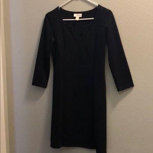 Black three Quarter length loft Dress-